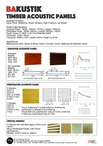 BAKUSTIK Timber Acoustic Panels - BA Furnishings Pte Ltd