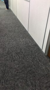 Black Carpet Tiles Installation at Factory Office 2